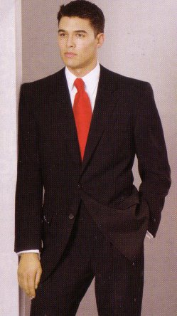 Black Suit White Shirt Red Tie Be Stylish